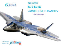 SU-57 vacuformed clear canopy - Image 1