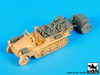 Sd.Kfz 10 with Sd.Ah.32 accessories set for MK 72