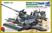 German Anti-aircraft 37mm gun Flak36 with Sd.Anh.52 Carriage trailer (2in1)