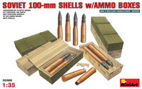Soviet 100-mm Shells with ammo boxes - Image 1