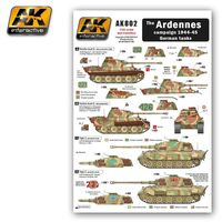 Wet transfer The ARDENNES campaign 1944-45 German tanks
