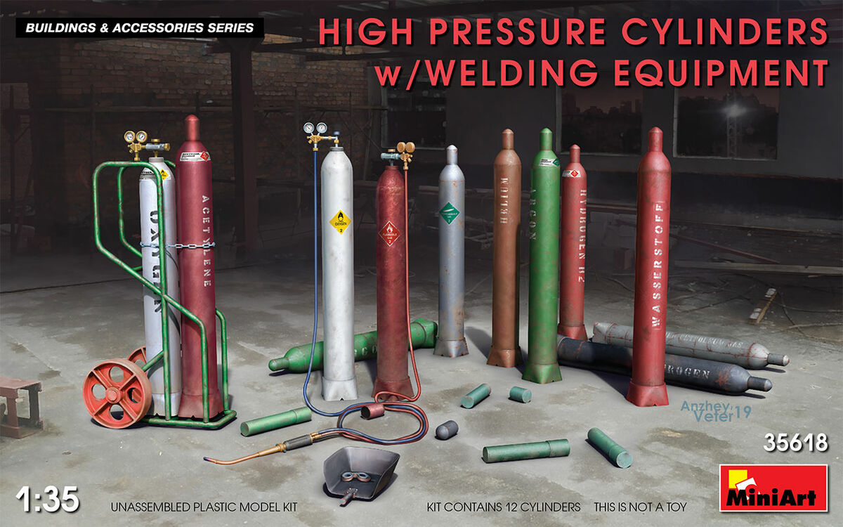 High Pressure Cylinders w/welding equipment - Image 1