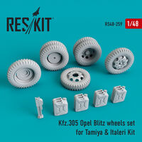 Kfz.305 Opel blitz wheels set  for Tamiya & Italeri - Image 1